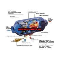 Airtronic D4 дизель (12 В) в разрезе
